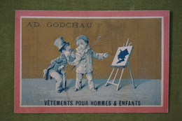 Ad Godchau - Série Pierrot - L'artiste Peintre - Fond Or - Imp. Testu Et Massin Vers 1880 - Altri