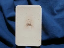Photo CDV Anonyme - Portrait Vieil Homme, Annoté Reproduit D'un Daguéréotype  à  Paris Août 1872 L303 - Photos