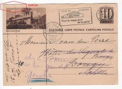 Entier Postal Illustré De 10 Cts Bellinzona. Circulé En 1947 - Suisse