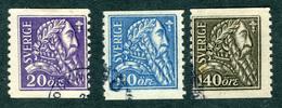 SWEDEN 1921 Gustaf Vasa Fine Used SG 194 - 196 - Sweden