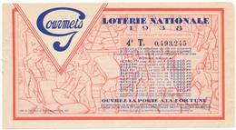 LOTERIE NATIONALE - Café Des Gourmets, 1938 - Format 9 X 16 Cm - Biglietti Della Lotteria