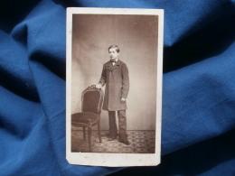 Photo CDV A. D'Orszagh à Paris - Jeune Homme En Pose, Second Empire Circa 1865 L303 - Ancianas (antes De 1900)