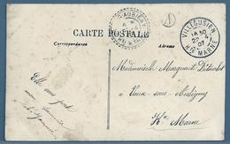 CPA - CACHET : VILLEGUSIEN (HAUTE-MARNE) Sur Carte Postale FAMILLE - 1877-1920: Periodo Semi Moderno
