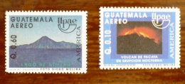 GUATEMALA VOLCANS, VOLCAN, Geologie, UPAEP, Yvert 838A/B MNH  ** Neuf Sans Charniere - Volcans