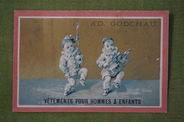 Ad Godchau - Série Pierrot - Le Défilé Avec Batterie De Cuisine - Fond Or - Imp. Testu Et Massin Vers 1880 - Altri