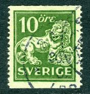 SWEDEN 1924 10o Green  Perf. 13 Fine Used  SG 137 Wmk - Sweden
