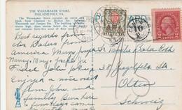 Etats Unis Carte Postale Taxée En Suisse 1930 - Poststempel