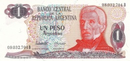 ARGENTINA 1 PESO ARGENTINO 1983 P-311a UNC SERIES B, SIGN: LOPEZ &  VAZQUEZ [ AR311a2 ] - Argentina