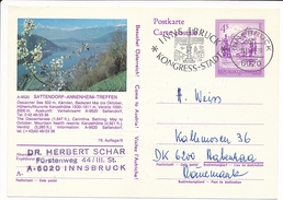 Sattendorf-Annenheim-Treffen Ossiacher See Kärnten - 19 March 1982 Innsbruck To Denmark - Ganzsachen