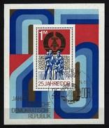 DDR - Block Nr. 41 - 25 Jahre DDR Ersttags-gestempelt - [6] République Démocratique