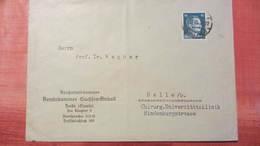 DR 33-45: Orts-Doppel-Brief Mit 16 Pfg Hitler In EF Aus Halle Vom 20.12.43 Knr: 790 - Briefe U. Dokumente