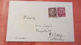DR 33-45: Ausl-Brief Mit 15 Und 10 Pfg Hindenburg Nach Göteburg Vom 26.3.37 Knr: 520, 518 - Deutschland