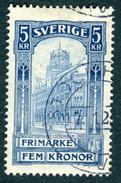 SWEDEN 1903 5k Blue  Stockholm Post Office Fine Used  SG 66 - Used Stamps