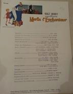 """Cinéma - Walt Disney - Scénario De """"Merlin L'Enchanteur"""" - Descriptif Détaillé Du Tournage - 22x28 Cm - Other Formats"""