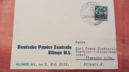 """DR 33-45: Postkarte Mit 6 Pf Friedrich Der Große Mit Selt.SSt. """"Forst -größte Tuchstadt Ostdeutschlands"""" 5.5.33 Knr: 480 - Briefe U. Dokumente"""