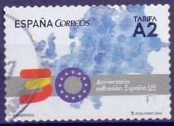 USED SPAIN 2016, 30 Years EU Member 1V S-a