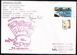 "ANTARCTIC,ITALIA,Exped.1990,1+1 Cachets, HERCULES-Flight ""Support Italian Exp."",sign, Look Scans, RARE !! 18.3-07 - Spedizioni Antartiche"