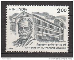 INDIA, 1998,  125 Years Of  Vidyasagar College, Calcutta,  MNH, (**) - India