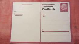DR 33-45: Post-Karte 1943 Aufbrauchsausgabe 6 Auf 15 Pf Hindenburg Ungebraucht Frageteil Knr: P 244 B F - Deutschland