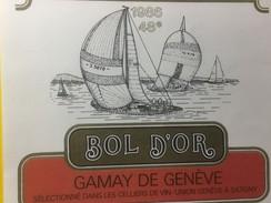 3741 - 48e  Bol D'Or  1986 Gamay De Genève - Bateaux à Voile & Voiliers