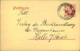 1911, Ganzsachenkarte 20 Para Auf 10 Pfg. Germania Ab CONSTANTINOPEL 3 - Ufficio: Turchia
