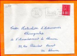 GIRONDE, Pomerol, Flamme SCOTEM N° 1109a, Vignobles, Grands Vins, Flamme à Droite - Storia Postale