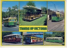 TRAM 's Of VICTORIA Multi View Wt Class Cable Tram Z Class W7 Class Ballrat Tram  Nice Stamp - Australia