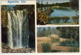 KYNETON, Victoria - Malmsbury, Trentham Falls , Rose Series PC, ... Nice Stamp - Australia