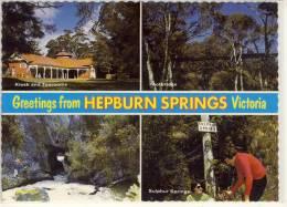 HEPBURN SPRINGS, Victoria - Multi View , Sulphur Springs, Kiosk, Footbridge,  ... Nice Stamp , - Australia