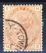 UK 1880-81 Victoria - N. 66 - 1 Scellino Rosso Bruno EH Tavola 13, Fil. 11 Usato £ 700 = € 770 - Used Stamps