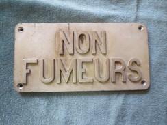 Plaque Sncf Non Fumeurs - Spoorweg
