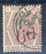 UK Victoria 1883 N. 75 D. 6 Su P. 6 Violetto, Tav. 18, Usato Cat. € 175 - Used Stamps