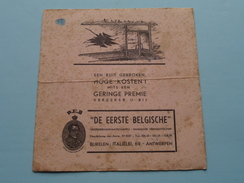 """D.E.B. """" De Eerste Belgische """" Verzekeringsmaatschappij Italiëlei 69 Antwerpen ( Gebruikt / Zie Foto Details ) !! - Bank & Insurance"""