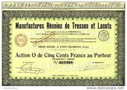 MANUFACTURE TRESSES Et LACETS 1929 (art. N° 56-2 ) - Textile