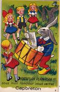 CPA à Système (40) CAPBRETON Carte Avec Vues Dépliantes Lapin Rabbit Garde-Champêtre Tambour Crieur Public - A Systèmes
