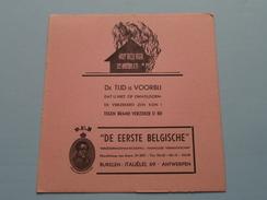 """D.E.B. """" De Eerste Belgische """" Verzekeringsmaatschappij Italiëlei 69 Antwerpen ( BRAND - Zie Foto Details ) !! - Banque & Assurance"""