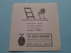 """D.E.B. """" De Eerste Belgische """" Verzekeringsmaatschappij Italiëlei 69 Antwerpen ( ONGEVAL - Zie Foto Details ) !! - Banque & Assurance"""