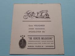 """D.E.B. """" De Eerste Belgische """" Verzekeringsmaatschappij Italiëlei 69 Antwerpen ( VEILIGHEID - Zie Foto Details ) !! - Banque & Assurance"""