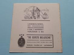 """D.E.B. """" De Eerste Belgische """" Verzekeringsmaatschappij Italiëlei 69 Antwerpen ( LANDBOUWERS - Zie Foto Details ) !! - Bank & Insurance"""