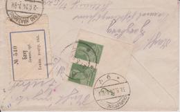 C15 Russia Russie USSR URSS 1924 R-Brief Von Baku Mit Altem Label!!!!!!!!!! Eckrandpaar - Storia Postale