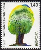 Ref. LI-V2011-1 LIECHTENSTEIN 2011 EUROPA, NATURE - TREES & FORESTS, MINT MNH 1V - Bomen