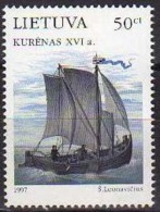 Ref. LT-571 LITHUANIA 1997 SHIPS & BOATS, THE OLD SHIPS BALTIC SEA, JOINT ISSUE - MI# 639 - MINT MNH 1V Sc# 571