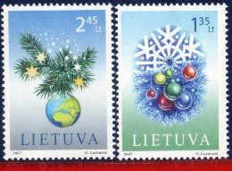 Ref. LT-850-51 LITHUANIA 2007 CHRISTMAS, RELIGION, NEW YEAR,, SET MNH 2V Sc# 850-851