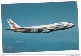 X1292 BOEING 747 WARDAIR CANADA 2 SCANS - 1946-....: Moderne