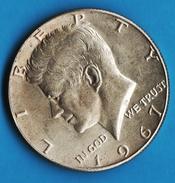 USA 1/2 HALF Dollar 1967 Kennedy  ARGENT SILVER KM# 202a - Federal Issues