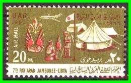 EGYPTO - EGYPT  - SELLO  AÑO 1966   20M  JAMBOREE - Usados