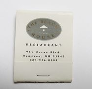 Pochette D'allumettes The Beach House  Restaurant Hampton USA