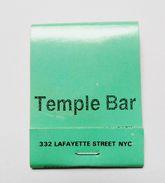 Pochette D'allumettes Temple Bar New York USA