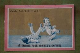 Ad Godchau - Série Pierrot - Patin à Roulettes, La Chute - Fond Or - Imp. Testu Et Massin Vers 1880 - Altri