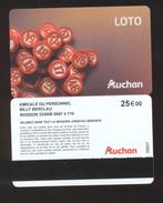 GIFT CARD - Carte Cadeau Auchan - LOTO Nouveau Modèle - 25 € BILLY BERCLAU - Cartes Cadeaux